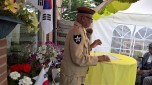 SurinaameKoreagangers2017-06-22. Uitreiking door voorzitter Fred Russel namens de Koreaanse regering aan (postuum) soldaten WO-2 in en buiten Suriname. Foto LaurenceVGill.